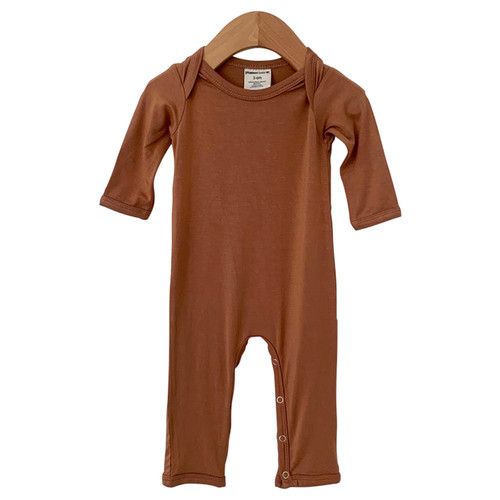 Long Sleeve Romper, Caramel