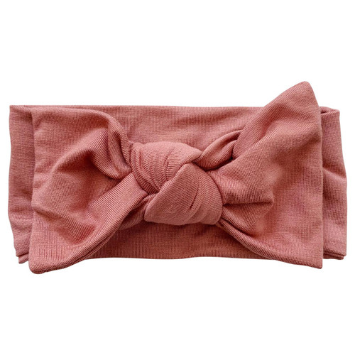 Knot Bow, Dusty Rose