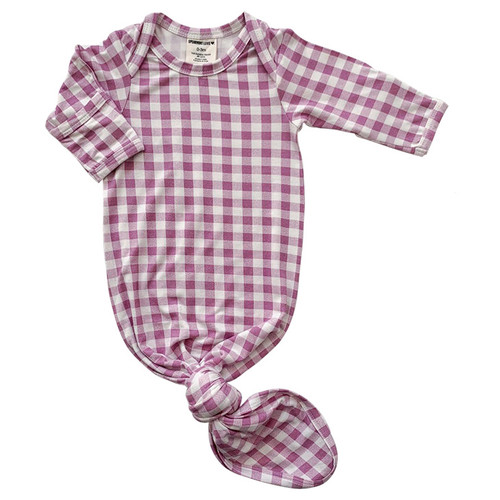 Knotted Gown, Lavender Gingham