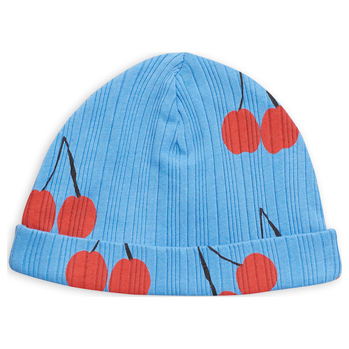 Mini Rodini Cherry Baby Beanie, Blue