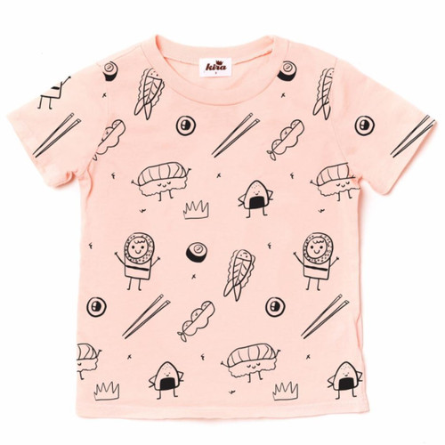 All Over Sushi Tee, Blush