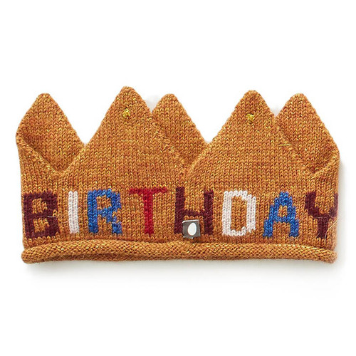 Oeuf Crown, Gold Birthday