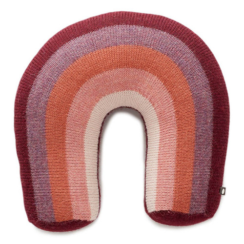 Oeuf Rainbow Pillow, Burgundy