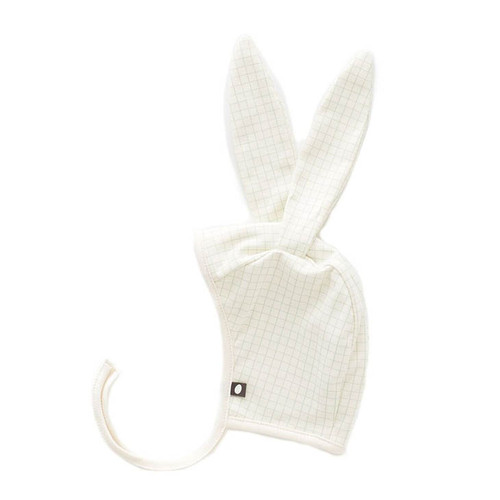 Oeuf Bunny Hat, White Check