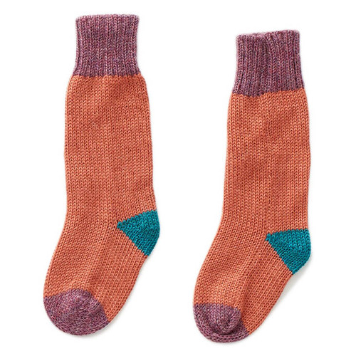 Oeuf Long Socks, Apricot