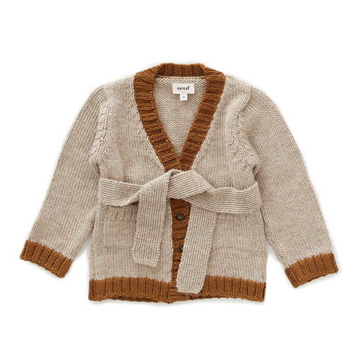Oeuf Belted Cardigan, Grey