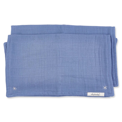 Lovie Burp Cloth, Stonewash Blue
