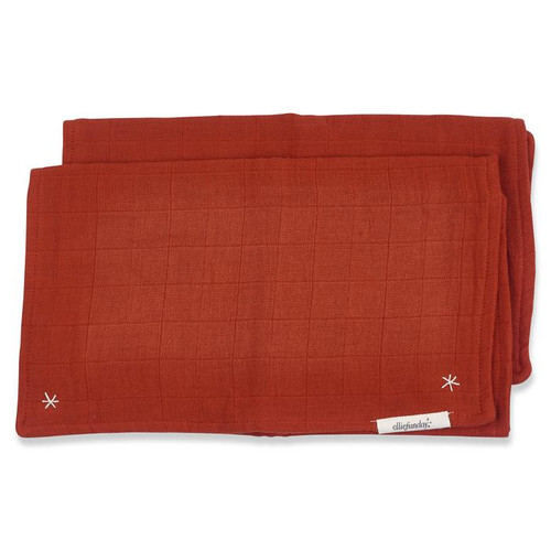 Lovie Burp Cloth, Cayenne