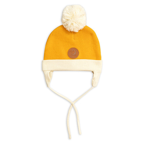 Mini Rodini Penguin Beanie, Yellow