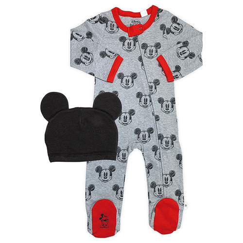 Footed Romper & Hat Set, Mickey