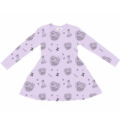 LS Cat Sundae Dress, Violet