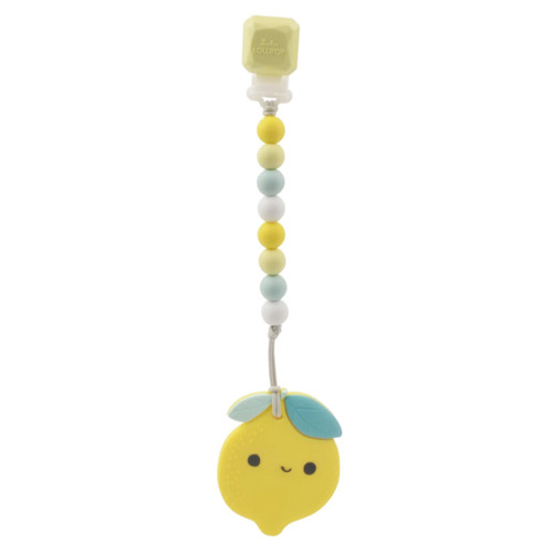 Lemon Gem Teether & Clip Set