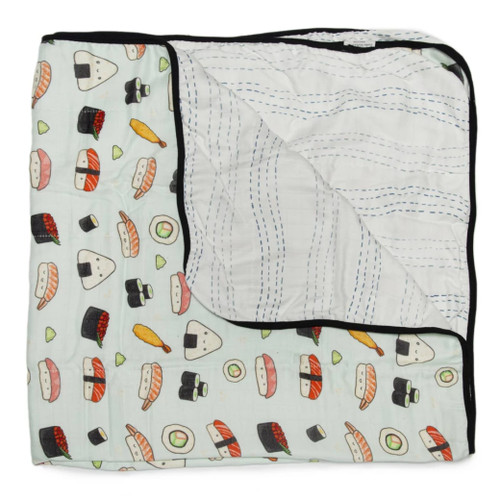 Luxe Muslin Quilt, Sushi
