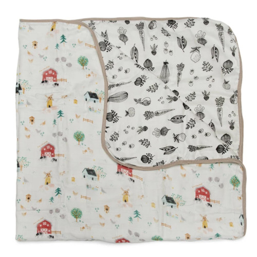 Luxe Muslin Quilt, Farm Animals