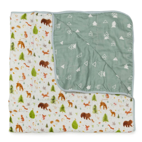 Luxe Muslin Quilt, Forest Animals