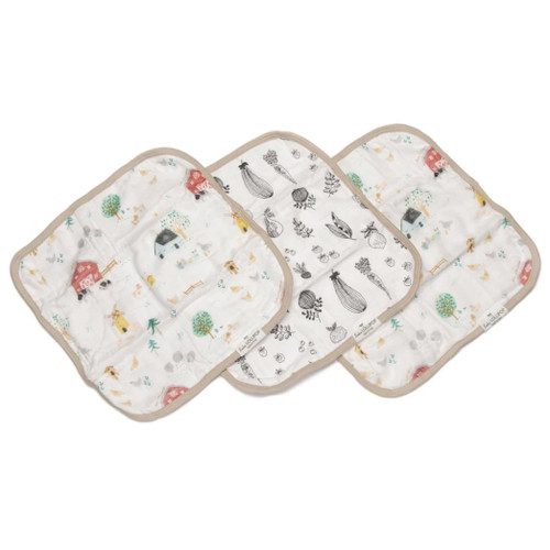 Wash Cloth Set, Farm Animals