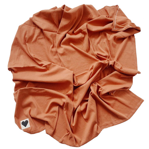 Organic Ribbed Stretch Swaddle, Rust