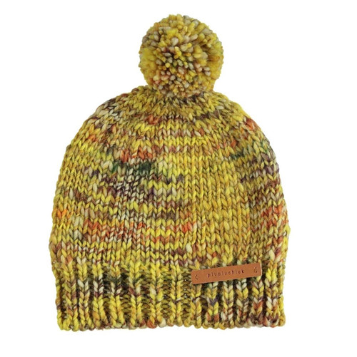 Knitted Hat, Mustard Flecked