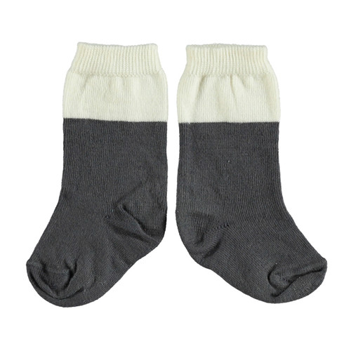 Socks, Anthracite/Ecru