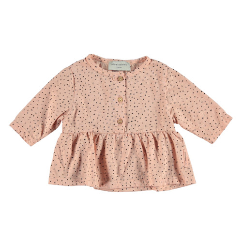 Peplum Top with Buttons, Dots