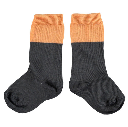 Socks, Anthracite/Salmon