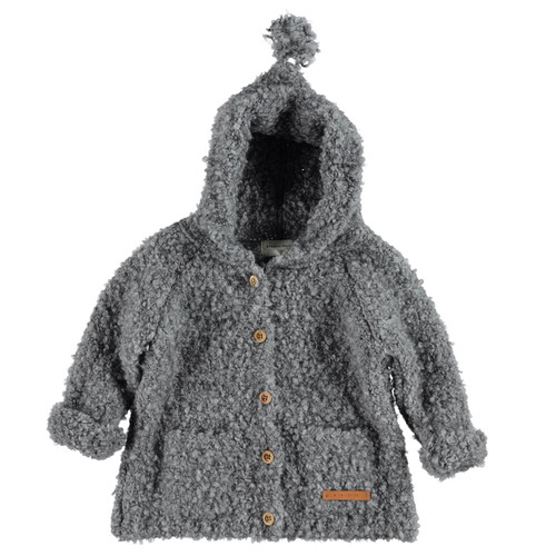 Knit Hooded Jacked, Grey