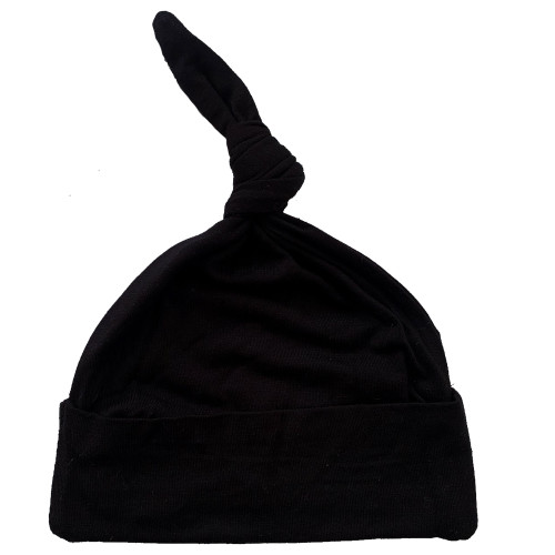 Newborn Knotted Beanie, Black