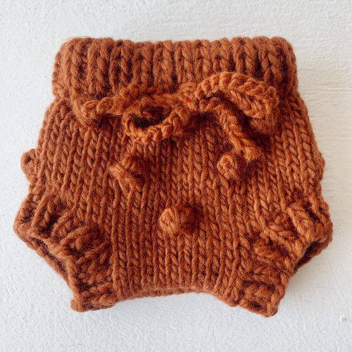 Popcorn Knit Bloomer, Cinnamon