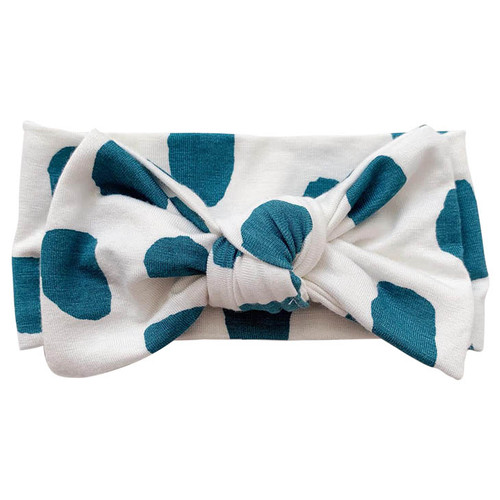 Knot Bow, Emerald Dot