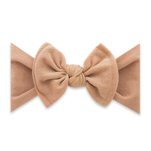 Shimmer Knot Bow, Rose Gold