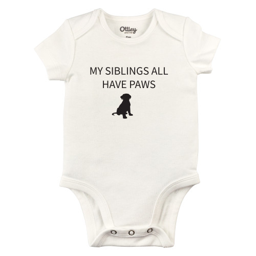 My Siblings All Have Paws Bodysuit, Dog