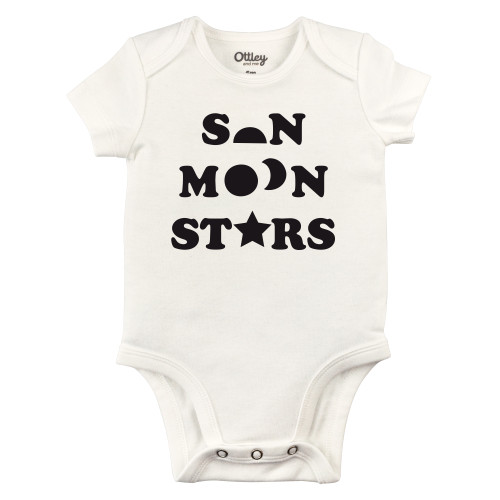 Sun Moon Stars Bodysuit, Natural