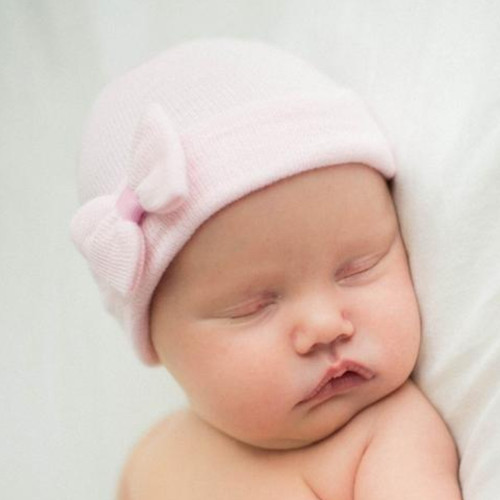 Newborn Hat, Pink Tiny Bow