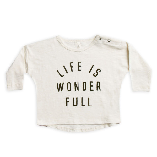 Rylee & Cru LS Tee, Life Is Wonder Full