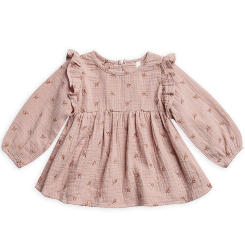 Rylee & Cru Piper Blouse, Leaf Embroidered