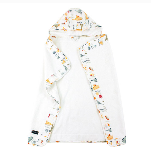 Baby Hooded Towel, Narwhal