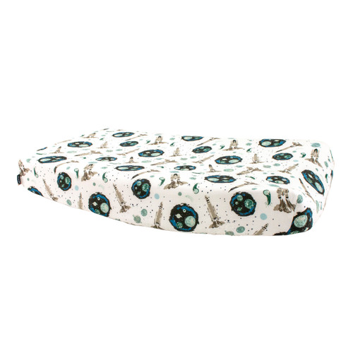 Muslin Changing Pad Cover, Space