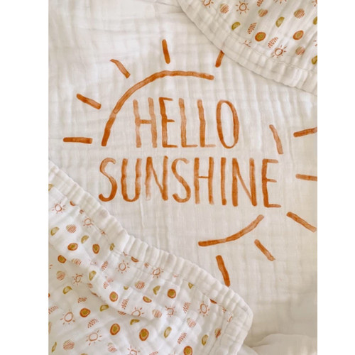 """Hello Sunshine"" Organic 4-Layer Luxury Blanket"