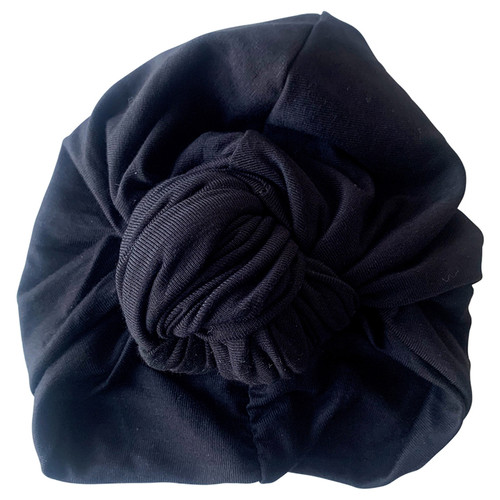 Knot Turban, Midnight Black
