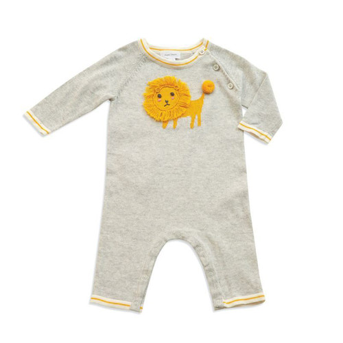 Knit Romper, Lion