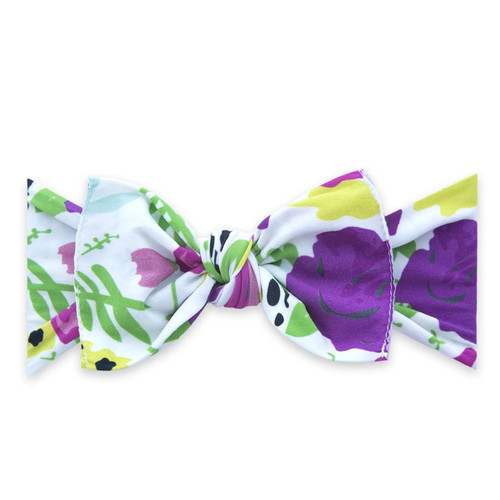 Knot Bow, White Pop Floral