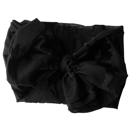 Holiday Collection Damask Bow Headband, Black