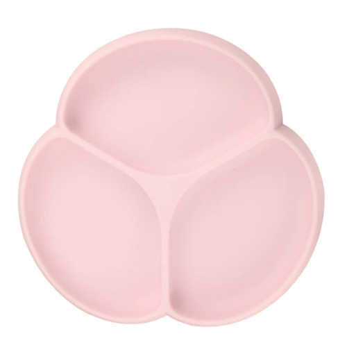 Silicone Suction Plate, Dusty Rose