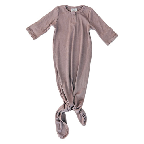 Ribbed Knot Gown, Dusty Plum
