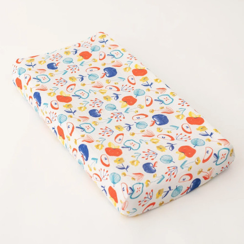 Muslin Changing Pad Cover, Apple Slice