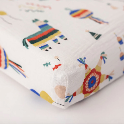 Muslin Changing Pad Cover, Piñatas