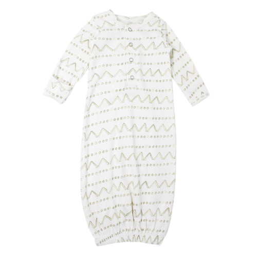 Organic Baby Gown, Sage Mountains