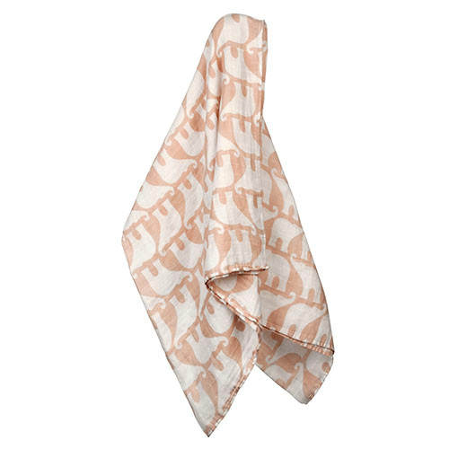 Organic Swaddle, Rose Elephant