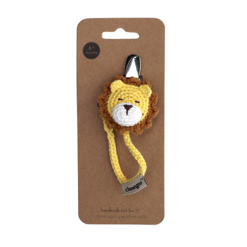 Pacifier Clip, Crochet Lion