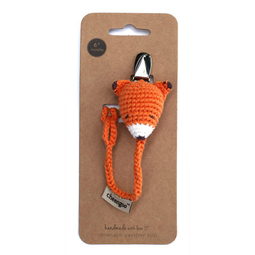 Pacifier Clip, Crochet Fox